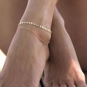 Gold Coin Anklet
